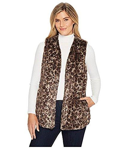不一致ビジョン本当のことを言うとディラン バイ トゥルーグリット レディース コート Multi Wild Side Vintage Leopard Faux-Fur Vest with Heather Knit Lining and Pockets [並行輸入品]