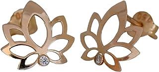 I-be, Lotus 35585262501PS Clous d'oreilles en or 585 14 carats 9 x 11 mm
