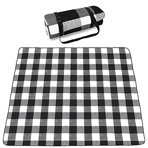 SKYSPER Picknickdeken Grote Outdoor Tapijt Mat Waterdicht Opvouwbare Camping Tote Licht Compact Oversized Rug (200x200cm…
