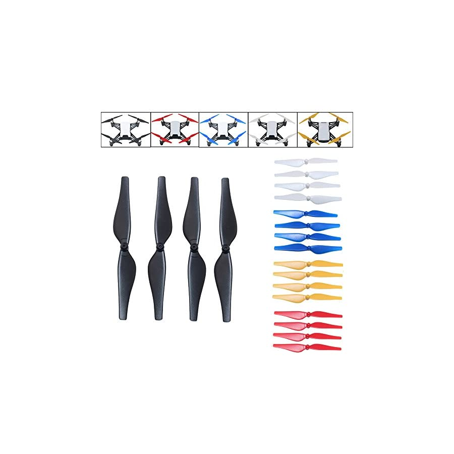 Cinhent Drone Accessories Kit, 4 PCS Quick Release/Lock Propellers CCW CW Props Blades For DJI Tello Mini Racing Drone, Quadcopter Spare Part, Low-Noise and Quick-Release 1