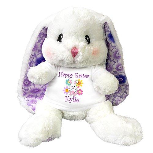 Personalized Easter Bunny (Personalized Easter Bunny - 13 inch Stuffed Lopsie Wopsie Bunny)