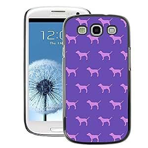 A-type Arte & diseño plástico duro Fundas Cover Cubre Hard Case Cover para Samsung Galaxy S3 (Dog Purple Pink Pattern Wallpaper)