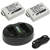 Wasabi Power Battery (2-Pack) and Dual Charger for Canon LP-E8
