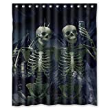 Custom Scary Skulls Horrible Halloween Gift Polyester Shower Curtain 60' x 72'
