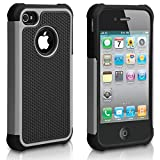 iPhone 4S Case, iPhone 4 Case, CHTech Fashion Shockproof Durable Hybrid Dual Layer Armor Defender Protective Case Cover for Apple iPhone 4S/4 (Gray)