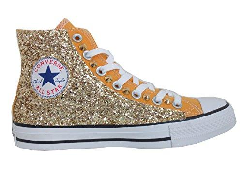 oro Converse glitter borchiate star vintage solar orange artigianale prodotto giallo Borchie all txnrBt