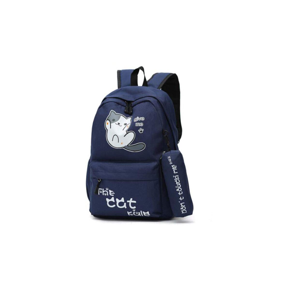 HENG Primary School Bag Large Capacity Backpack, Sky blueee for Hiking, Traveling & Camping (color   Dark blueee)
