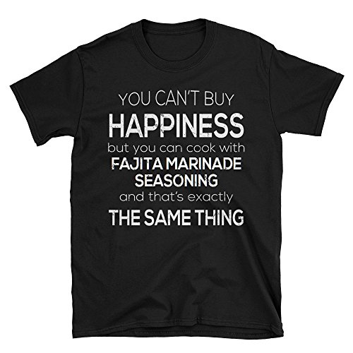Funny Fajita marinade Seasoning T-Shirt For Cooking Lovers - Black, XL