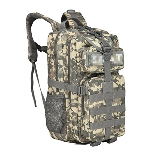 LF&F Backpack Camping et randonnée sacs à dos Oxford Tactical Camouflage Outdoor Camping Shoulders 3P25L Nylon Fabric Backpack Confortable Textile Soufflé Bien