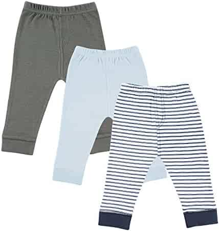 Luvable Friends Baby 3 Pack Tapered Ankle Pants, Blue,Gray,Navy, 4T