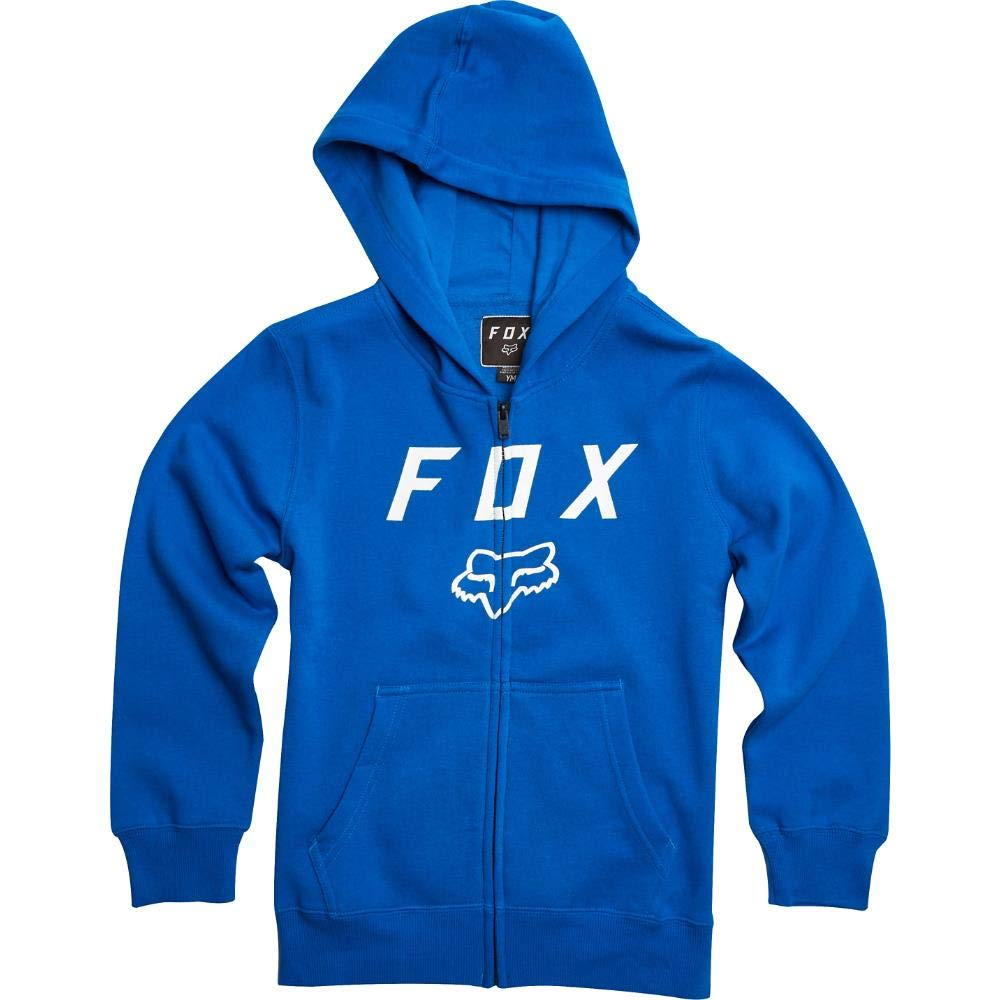 Fox Racing Boys Legacy Moth Zip Fleece Hoody Zip Sweatshirts YS Flame Red 20722-122-YS