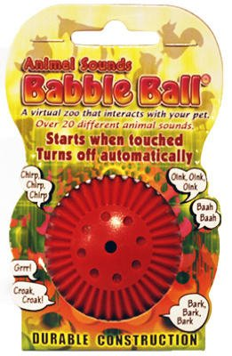 (Pet Qwerks ABB3 Small Animal Sounds Babble Balls Assorted Colors)