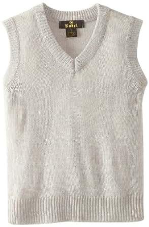 X-Label Little Boys' Sweater Vest, Gray, 7