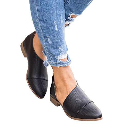 Slip Casual Western Younsuer Boots Toe Ankle Womens On Cowboy Black Pointed Loafer Heel Cutout Low Bootie SPqBSa