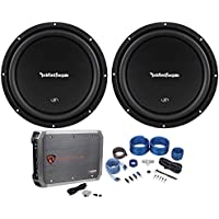 (2) Rockford Fosgate R1S4-10 10 800W Car Subwoofers+Mono Amplifier+Amp Kit
