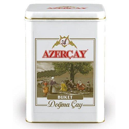 "Azerbaijan Tea - Azercay Black Pekoe Tea - Native Tea Series ""Buket"" - in 100 gr. Metallic Box"