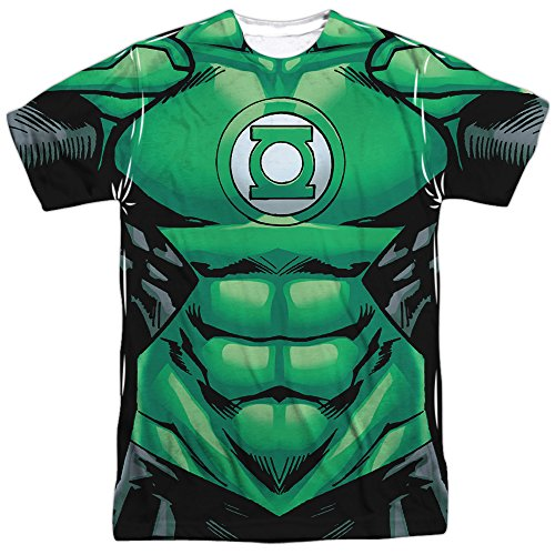 [Green Lantern- Uniform Costume Tee (Front/Back) T-Shirt Size XL] (Kyle Rayner Costumes)