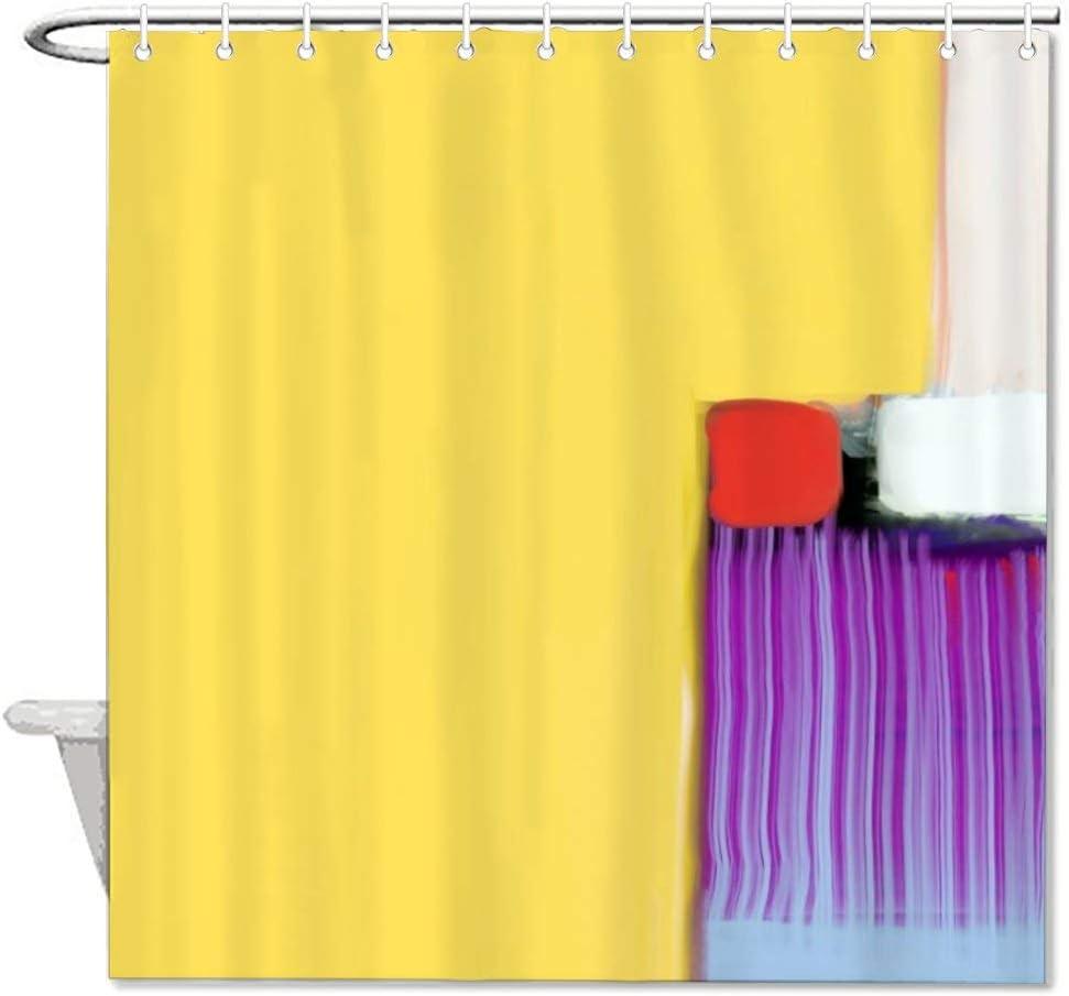 VinMea Dandelion Polyester Waterproof Fabric Bath Curtain with Hooks,Shower Curtain For Bathroom Decor 72 X 72