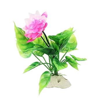 Godagoda Acuario Decorativo Césped de Agua Artificial Flor de Loto pecera Paisaje Plástico Paisaje 3 Pack: Amazon.es: Hogar