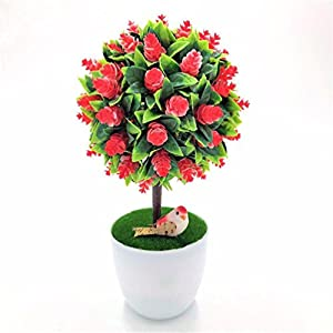 1pc Sakura Emulate Bonsai Simulation Decorative Artificial Flowers Fake Pot Plants 87