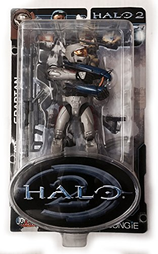 - HALO 2 Grey SPARTAN Limited Edition (with Sniper Rifle, Plasma Rifle and Magnum Pistol)Gold Face Shield Grey and Black Armor