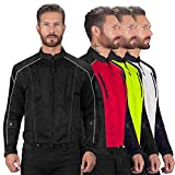 Viking Cycle Textile Warlock Mesh Motorcycle Jacket for Men - Removable Armor, Summer Riding Gear - Reflective, Breathable, and Water Repellent
