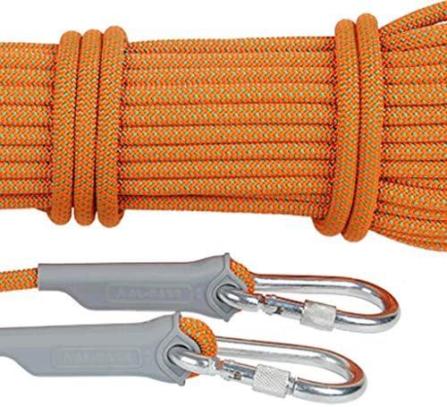 ZHWNGXO Kletterseil 10,5 mm, Außen Abseilen Seil Polyester mit Safety Lock Anti-Rutsch/verschleißfest High Strength 10m / 15m / 20m / 30m / 40m / 50m / 100m (Color : Blue, Size : 10m)