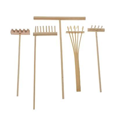 KOZOREN Mini Zen Garden Sand Rake Kit Drawing Tool for Relaxation & Meditation Desktop Decor Accessory (Whole Set): Home & Kitchen