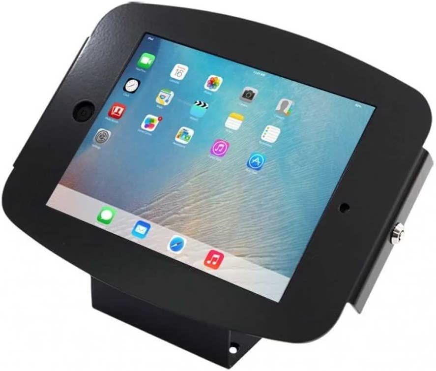 Maclocks 101B235SMENB iPad Space Enclosure Kiosk with 45-Degree Counter-top or Wall Mount for iPad Mini (Black)