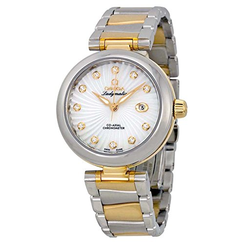 Omega-DeVille-Ladymatic-Mother-of-Pearl-Steel-and-18kt-Yellow-Gold-Ladies-Watch-42520342055002