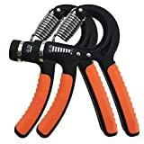 UMAY Hand Grip Strengthener Workout, Hand Exerciser, Strength Trainer, Adjustable Resistance Range 22-88 Lbs, Non-Slip Gripper, Great for Athletes Pianists Kids & Hand Rehabilitation Exercising