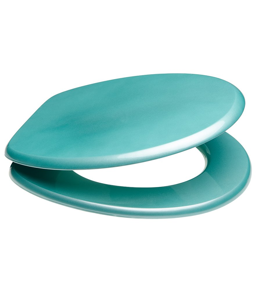 Turquoise Toilet Seat Cover. Soft Close Toilet Seat  High Quality surface Stable Hinges Easy to mount Glittering Turquoise Amazon co uk DIY Tools