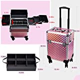 Stagiant Rolling Makeup Train Case Large Storage