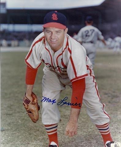 Autographed Max Lanier Photo - St Louis Cardinals 8x10 - JSA Certified - Autographed MLB Photos