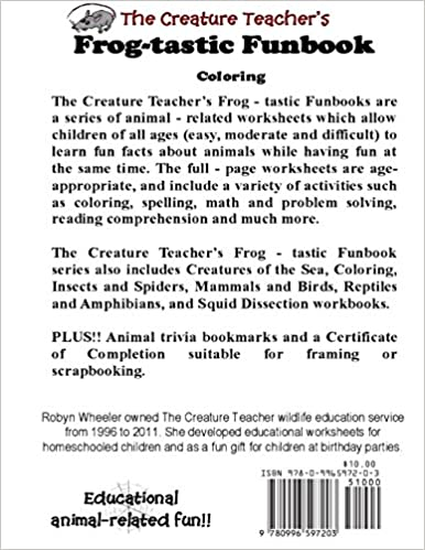 The Creature Teacher's Frog-tastic Funbook (Coloring): Robyn ...