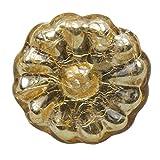 GlideRite Hardware 231007-M-10 1.625 inch Gold Round Mercury Glass Cabinet Knobs 10 Pack