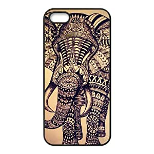 J-LV-F Diy Elephant Aztec Tribal Selling Hard Back Case for Iphone 5 5g 5s
