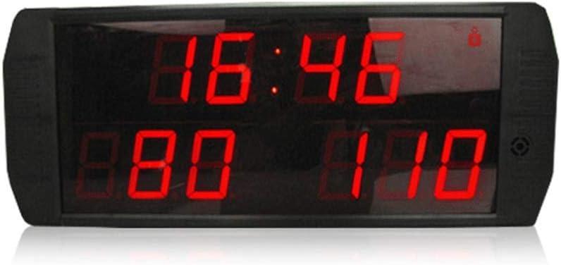 なデジタルLED壁掛け時計 大きいLEDの壁時計のスポーツ可能なスコアボードのMultisportの屋内卓上のスコアボード (色 : ブラック, サイズ : 46X19X4.5CM) ブラック 46X19X4.5CM