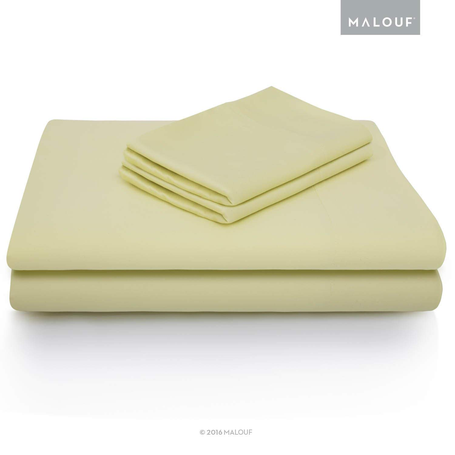 MALOUF 100/% Rayon from Bamboo Sheet Set Queen 4-pc Set Ash MA25QQASBS