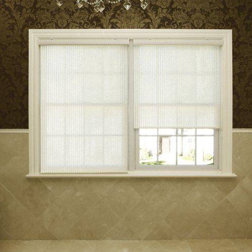 Best Home Fashion Premium Single Roller Window Shade – Cream – 24 1/6″ W x 64″ L
