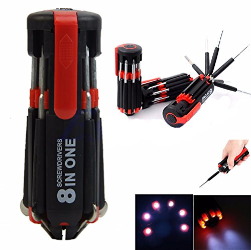 8 in 1 Multi-Screwdriver Set With LED Torch - 9