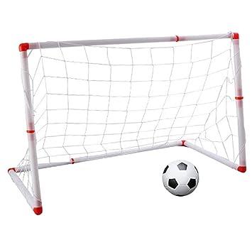 B Blesiya Puerta de Fútbol Portátil Infantil ocn Balón Hinchable ...