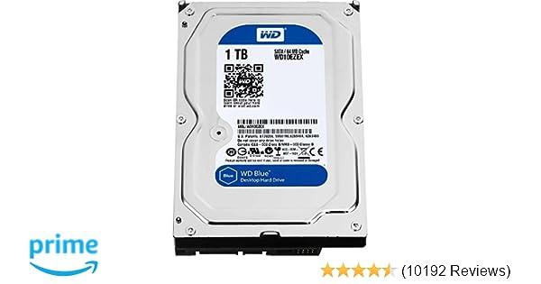 """WD Blue 1TB PC Hard Drive - 7200 RPM Class, SATA 6 Gb/s, 64 MB Cache, 3.5"""" - WD10EZEX"""