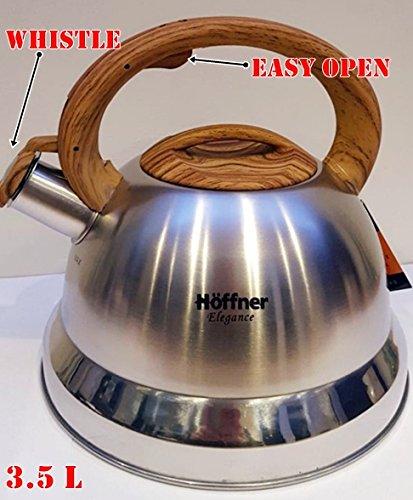 Hervidor de agua con silbido (3,5 L estufa de acero ...