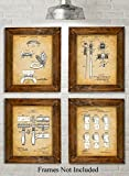 Bathroom Artwork Original Bathroom Patent Art Prints - Set of Four Photos (8x10) Unframed