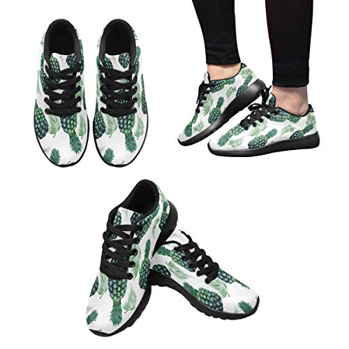Running InterestPrint Women's 5 Pineapples Leaves Shoes Walking Design Tropical Sports P6qqwH