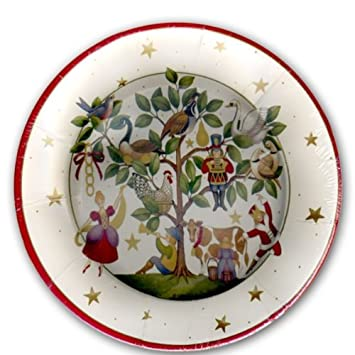 twelve days of christmas dinner plates