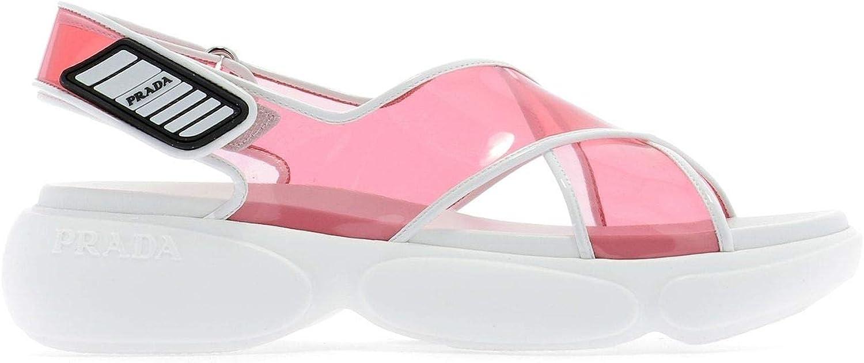 Prada Luxury Fashion Femme 1X470L3AAUF0442 Rose Sandales