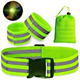 Reflective Bands High Visibility Reflective Gear Safety Reflector Tape Straps Very Large Reflective Surface Area