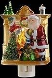 Roman Lights Santa Fireplace Nightlight * Decorative Home New Nite Lite Christmas
